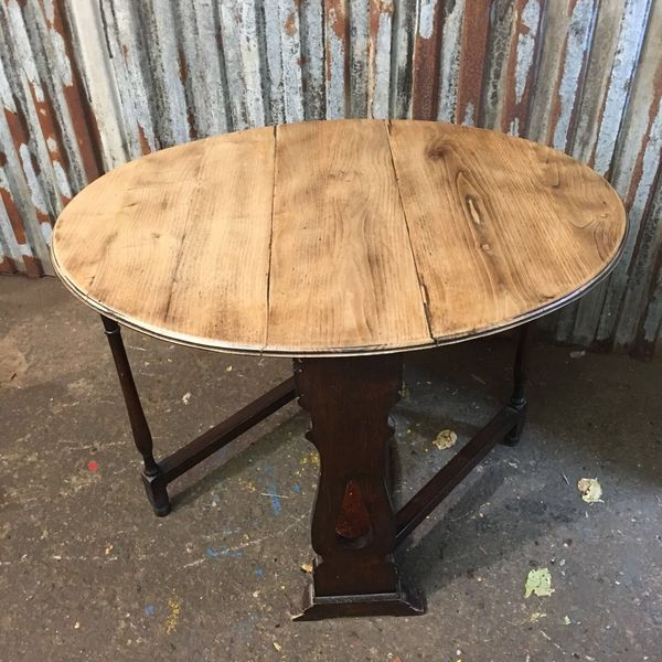 Occasional End Lamp Table Card Gate Leg Oak