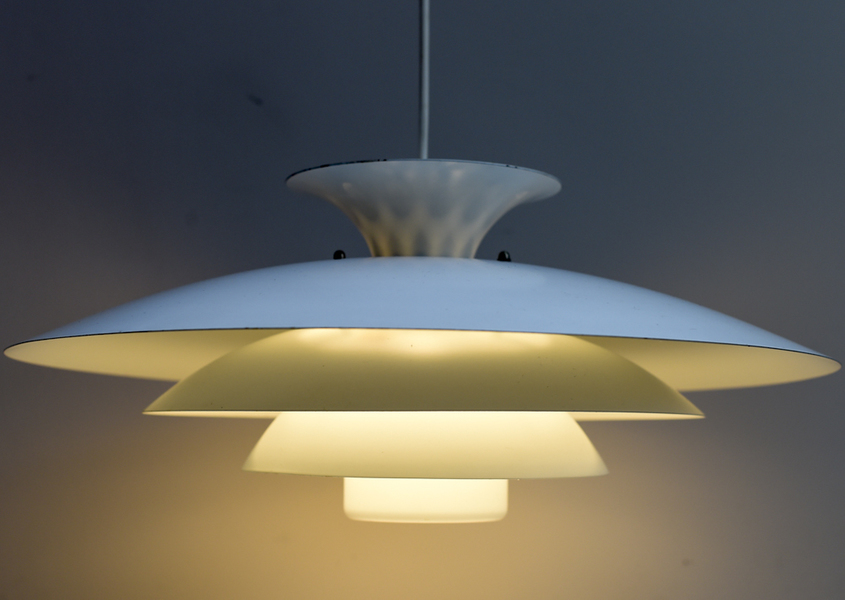 Danish Multi Layered Pendant In White Metal Designed By The Danish Company Form Light