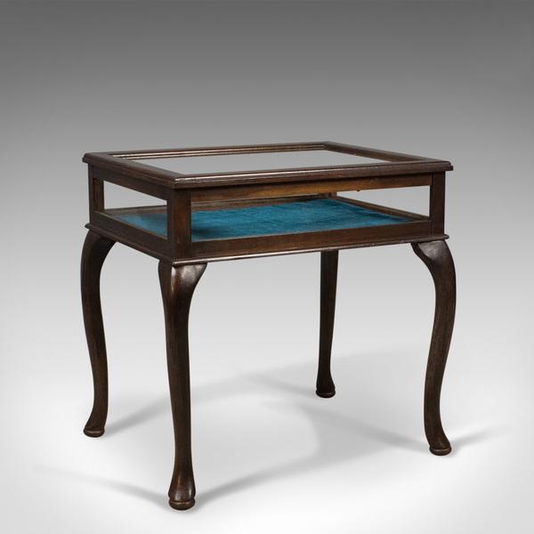 Bijouterie Glazed Display Table, Mahogany, Late C20th Specimen Cabinet