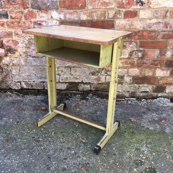Single French Old School Vintage Childrens School Desk