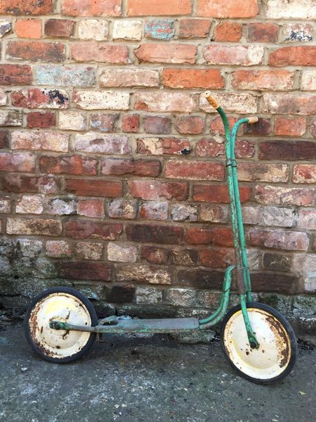 Vintage Old Industrial Retro Classic Triang Scooter Bike Mobo