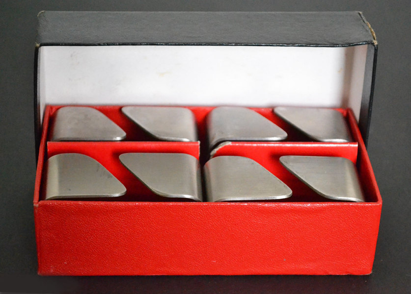 Boxed Set Of 4 Stainless Steel Napkin Ring