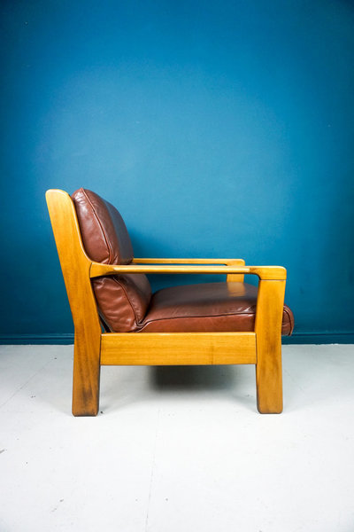 Danish Armchair With Footstool