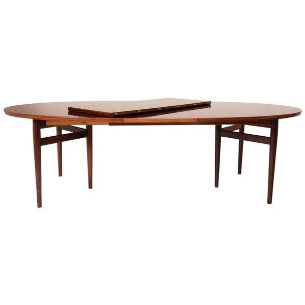 Arne Vodder For Sibast Midcentury Rosewood Extending Dining Table