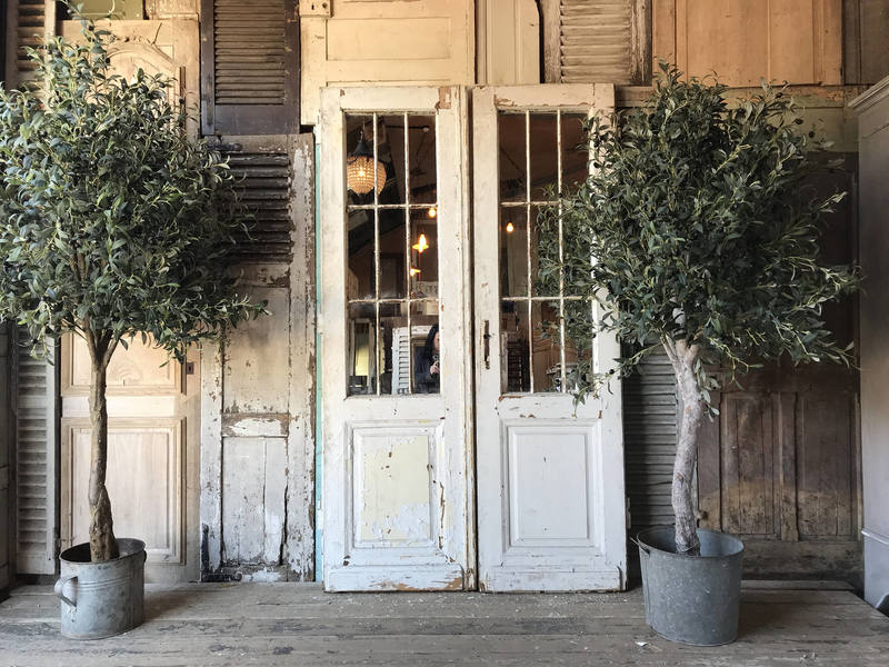 Pair Of Vintage French Mirrored Door Frames