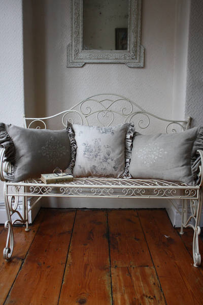 French Style Metal Bench