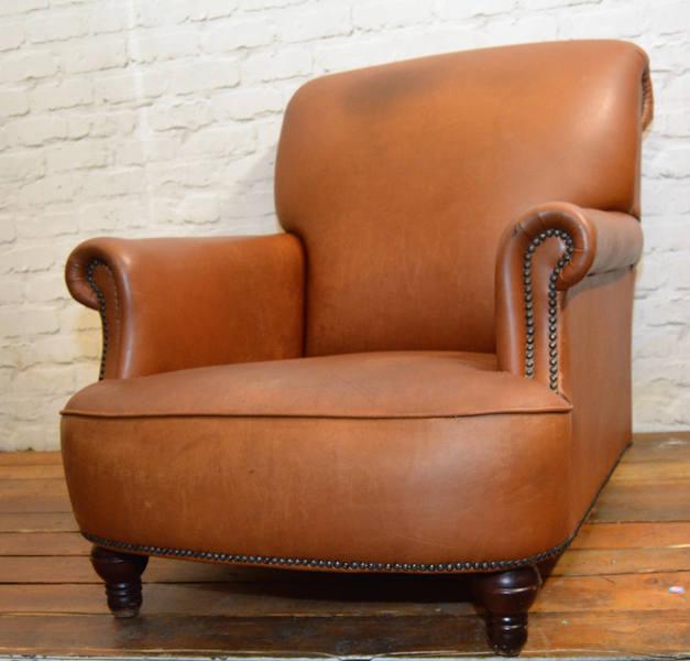 Tan Leather Club Armchair