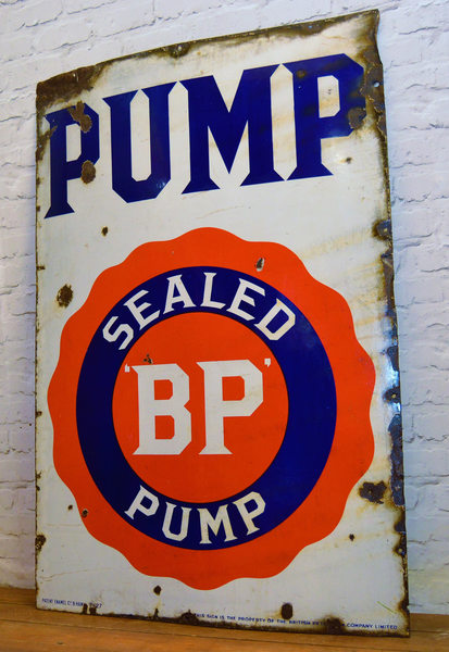 Bp Pump Enamel Sign