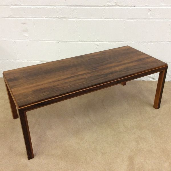 Danish Rosewood And Teak Coffee Table 1960s Retro Vintage