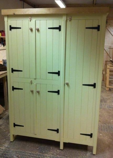 Rustic Wooden Pine Kitchen Cupboard Unit Pantry Housekeepers Larder Any Colour