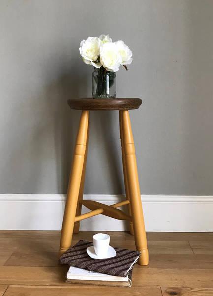 Vintage Wooden Painted Stool