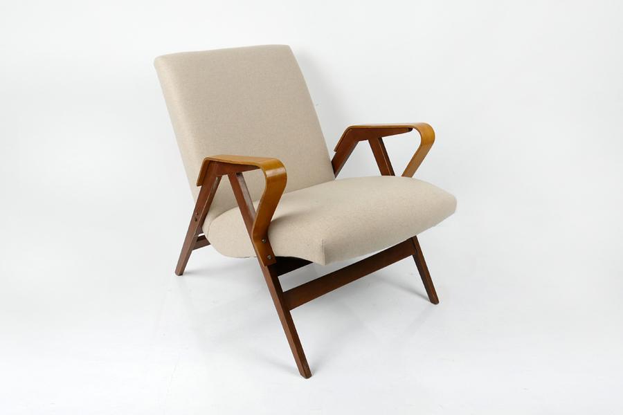 Vintage Beige Armchair By Tatra Nabytok 60's