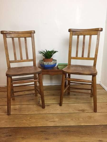 Vintage Chapel Chairs, 2 Available