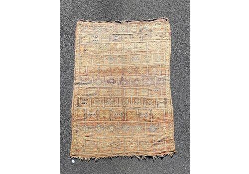 Vintage Moroccan Boujaad Rug 180x260 Cm, Boho Chic Berber Carpet
