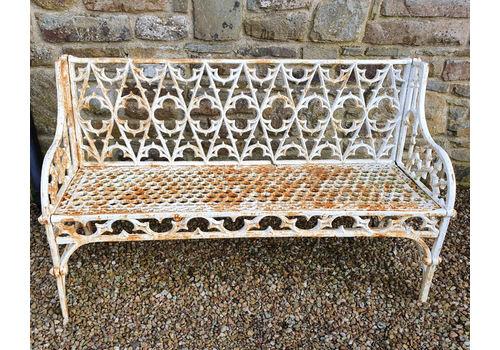 Heavy Cast Iron Gothic Garden Seat