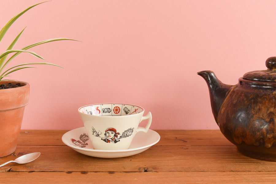 Vintage Tasseomancy Romany Fortune Telling Tea Cup