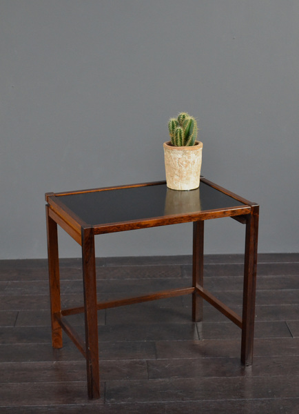 Original Vintage Retro Mid Century Danish Kurt østervig Rosewood & Formica Side / Bedside Table