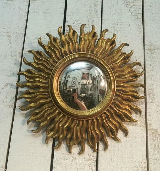 Resin Sunburst Mirror. Circa 1970