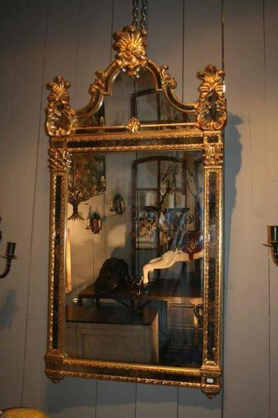 """Nice Large """"Barroque"""" Style Mirror. Made Of Resina. Very Decorative. Italy Circa 1970"""