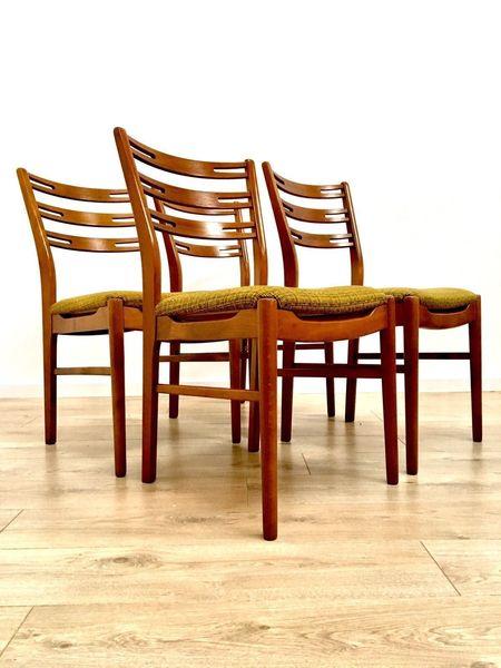Immaculate Mid Century Danish Teak & Walnut Dining Chairs By Farstrup Denmark
