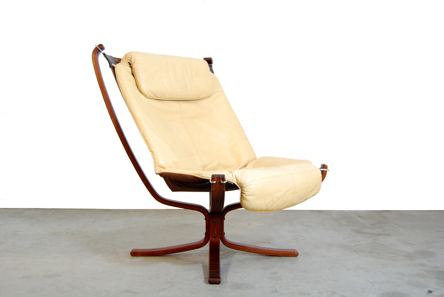 Scandinavian Falcon Lounge Chair By Sigurd Ressell For Vatner Mobler, 1970s