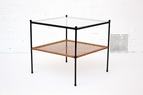 Dutch Steel And Glass Coffee Table