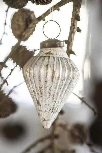 Christmas Tree Teardrop Silver Gold Ornament