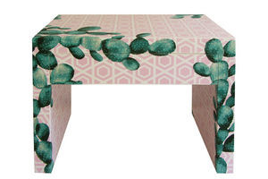 Thumb cactus captured restyled bedside table by habitat improver with recycled wallpaper and fabric decoupage 0