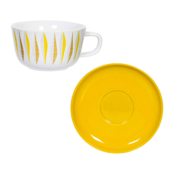 ' Cup And Saucer. Atomic Era. Designer 1960's Style