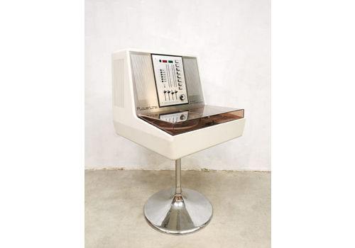 Vintage Stereo Turntable Radio Record Player Rosita Commander Luxus 1974
