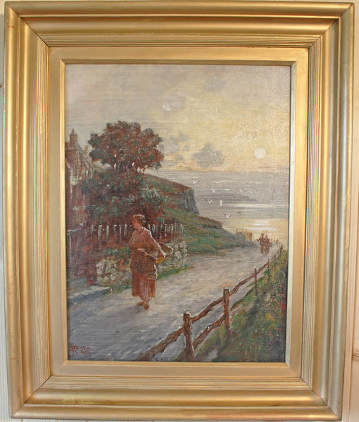 "Antique Painting. Oil On Canvas   ""Caller Herrin"". Signed And Dated 1912. J H Boel"