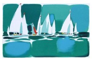 Thumb bez michel lithography regatta pm 2 bez michel unknown 0