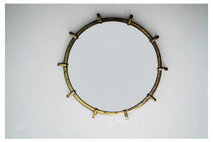 Thumb small antique brass mirror 1930s 0