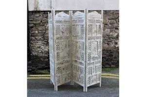 Thumb jali screen room divider carved wood cream unknown 0