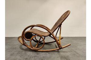 Thumb vintage rattan rocking chair 1960s 1960s 0