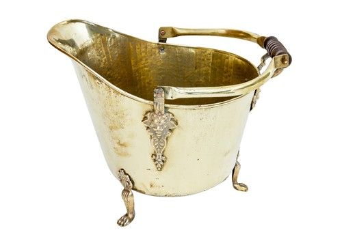 19th Century Victorian Brass Coal Scuttle