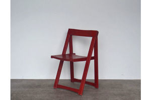 Thumb original vintage retro mid century red folding chair by aldo jacober for bazzani italy 0