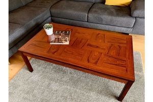 Thumb vintage 1970 s coffee table in rosewood by heggen of norway 0