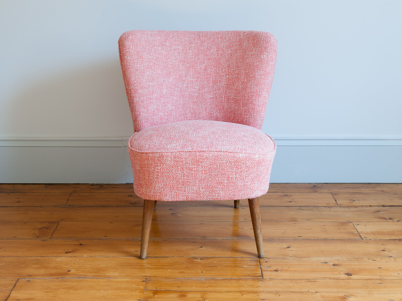 Small Pink French Cocktail Chair photo 1