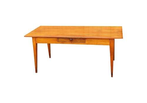 19th Century French Cherrywood Farmhouse Antique Dining Table (France, Circa 1860)