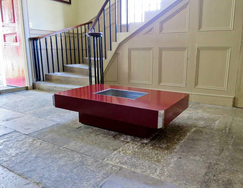 An Alveo Coffee Table Designed By Willy Rizzo For Mario Sabot photo 1