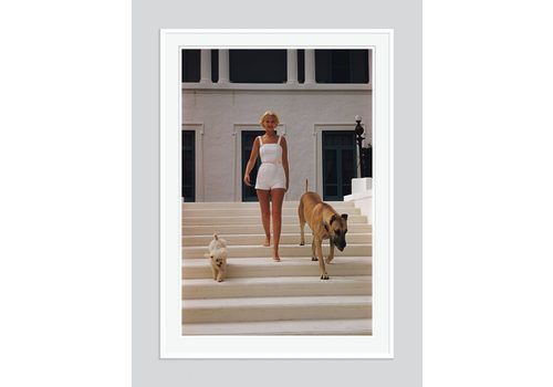 Slim Aarons 'C. Z. Guest' 1955 Oversize White Frame C Type Print