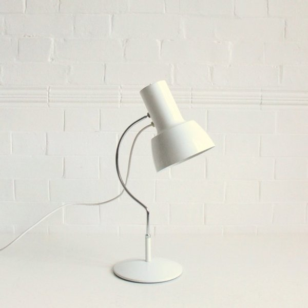 Large Mid Century White Desk Light  photo 1