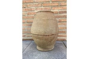 Thumb french 19th century hand carved terracotta vase from provence 90