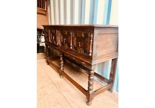 Antique Jacobean Style Oak Sideboard Dresser Base
