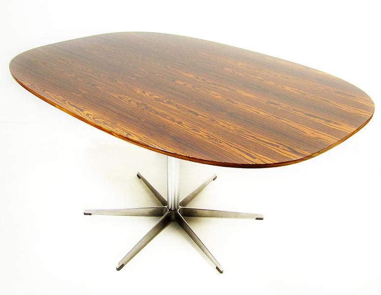 Piet Hein & Arne Jacobsen For Fritz Hansen Super Ellipse Dining Table photo 1