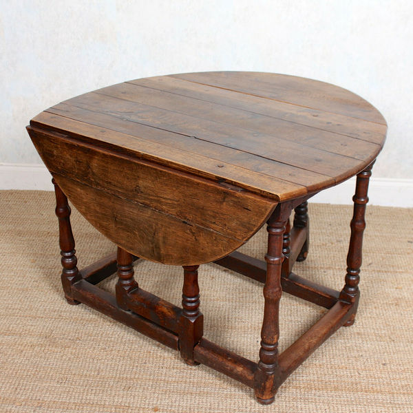 18th Century Oak Gateleg Dining Table Antique Folding Kitchen Table Unknown Vinterior