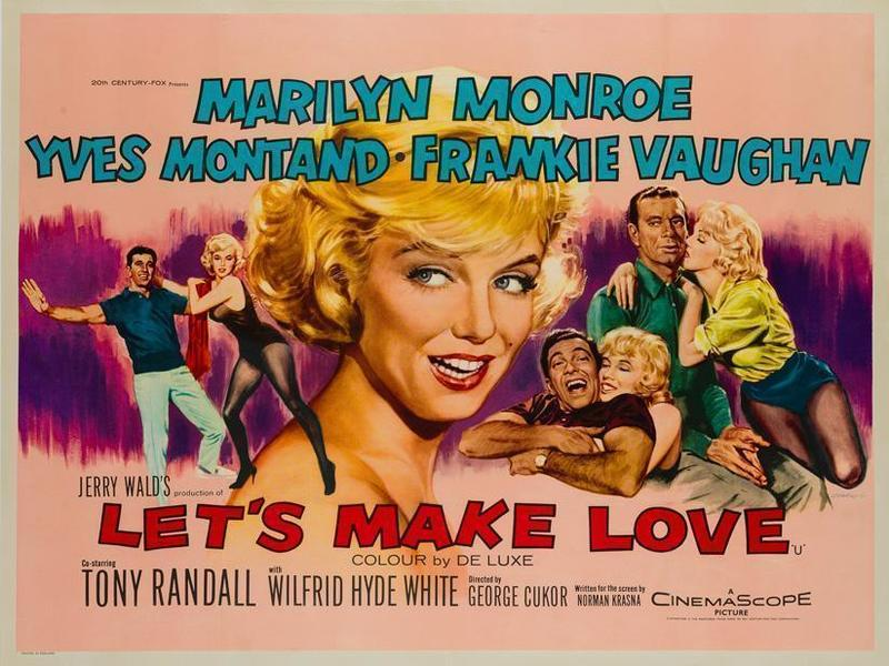 Let's Make Love Film / Movie Poster Original Vintage 1960, Marilyn Monroe, Tom Chantrell