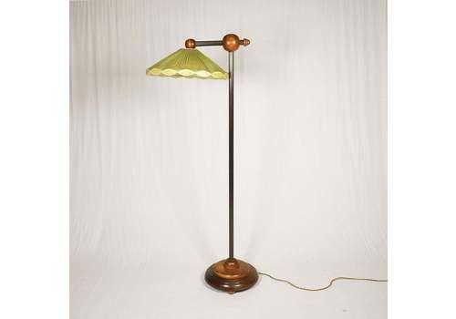 Rare Art Deco Floor Lamp , Czechoslovakia, 1930s