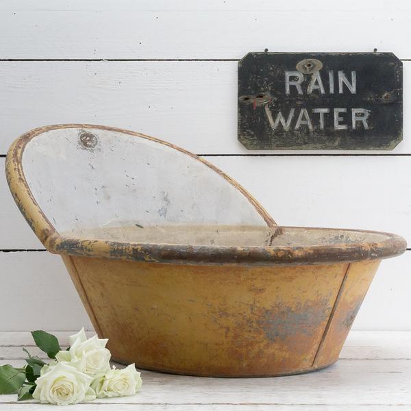 Antique Toleware Bath Tub